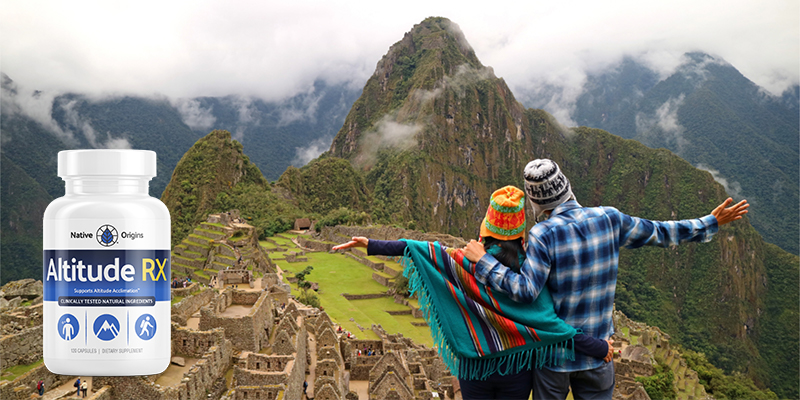 Couple mountain climbing in Andes